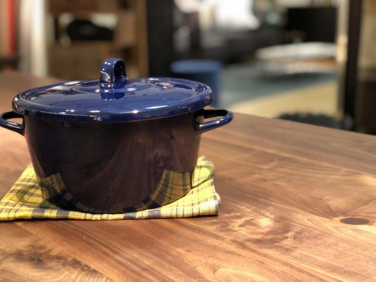 鍋 食卓 ダイニングテーブル リビングテーブル ローテーブル 異素材 オーダー おしゃれ LIVINGHOUSE インテリア